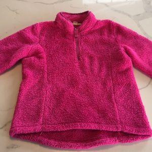 Fleece pull-over, half zip